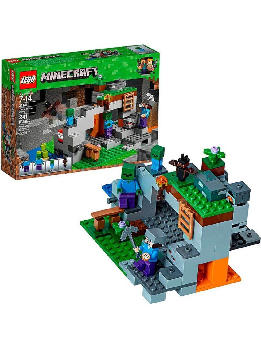 lego minecraft cueva zombie